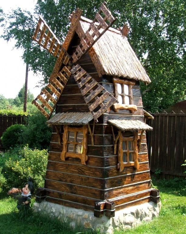Мельница из дерева под старину «Двухэтажная» купить в Белгороде