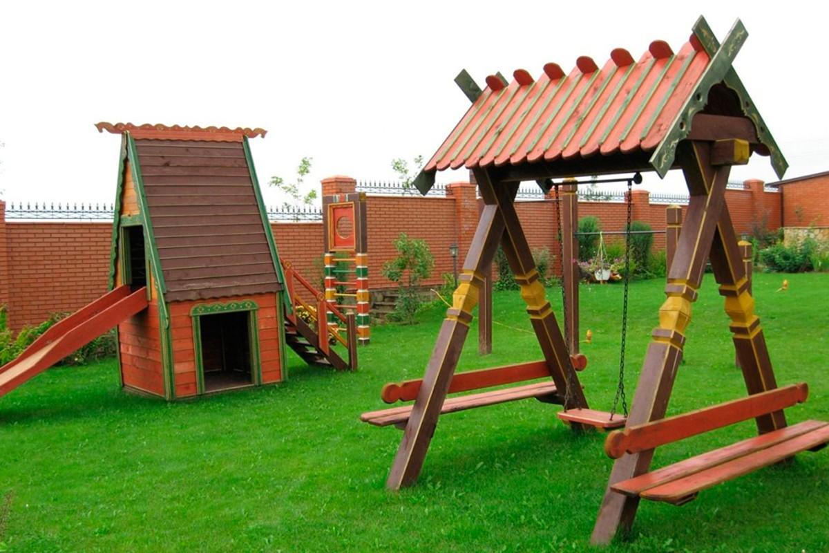 Детский игровой комплекс под старину купить в Белгороде