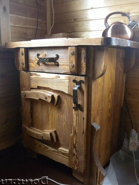 Тумбочка под старину прикроватная «Стеганное» купить в Белгороде