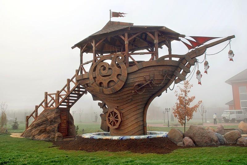 Корабль из дерева под старину «К-1» купить в Белгороде